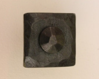 Hand Forged Cabinet Pull Knob ~ Button