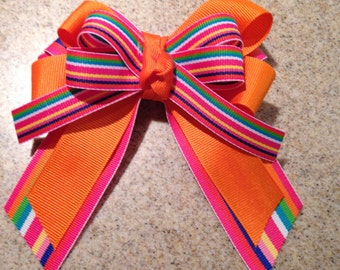 Multi-Colored Hair Bow