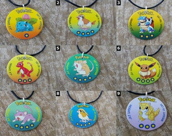 POKEMON GO - Pokemon Necklaces - Pikachu, Bulbasaur, Charmander, Squirtle, Eevee and more!
