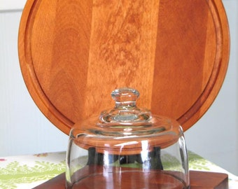 Baribocraft Cheese Board with Glass Dome and Round Cutting Board