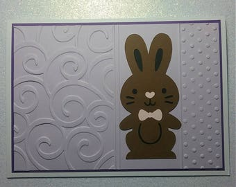Simple Pretty Easter Card featuring a Chocolate Easter Bunny