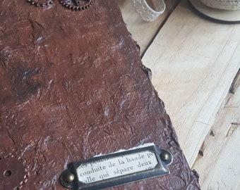 Journal,grimoire,steampunk, notebook, travelbook, vintage, diary, artbook
