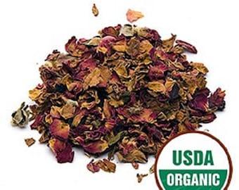 Red Rose Petals, Organic 1 POUND