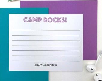 Personalized Stationery Set, Girls Stationary Set, Kids Camp Stationery, Camp Rocks