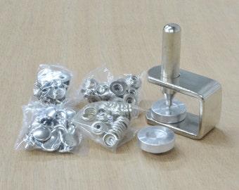 Line 20 Snap Setter kit CS Osborne, Includes 25 Nickel-plated over Brass Snaps - 39860