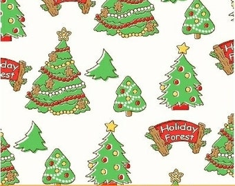 Storybook Christmas White Christmas Trees 41751-1 by Whistler Studios for Windham Fabrics