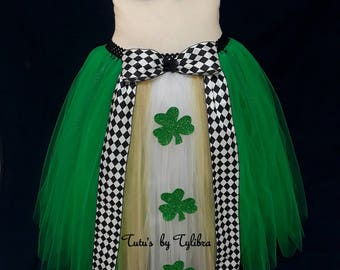Shamrock Tutu Skirt, St Patty's Day Costume, Leprechaun Costume, St Patrick's Day Skirt, Clover Tutu, Shamrock Halloween Costume