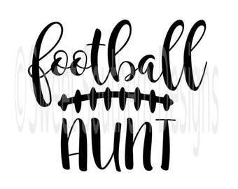 Football aunt laces fall SVG PDF DXF instant download design for cricut or silhouette