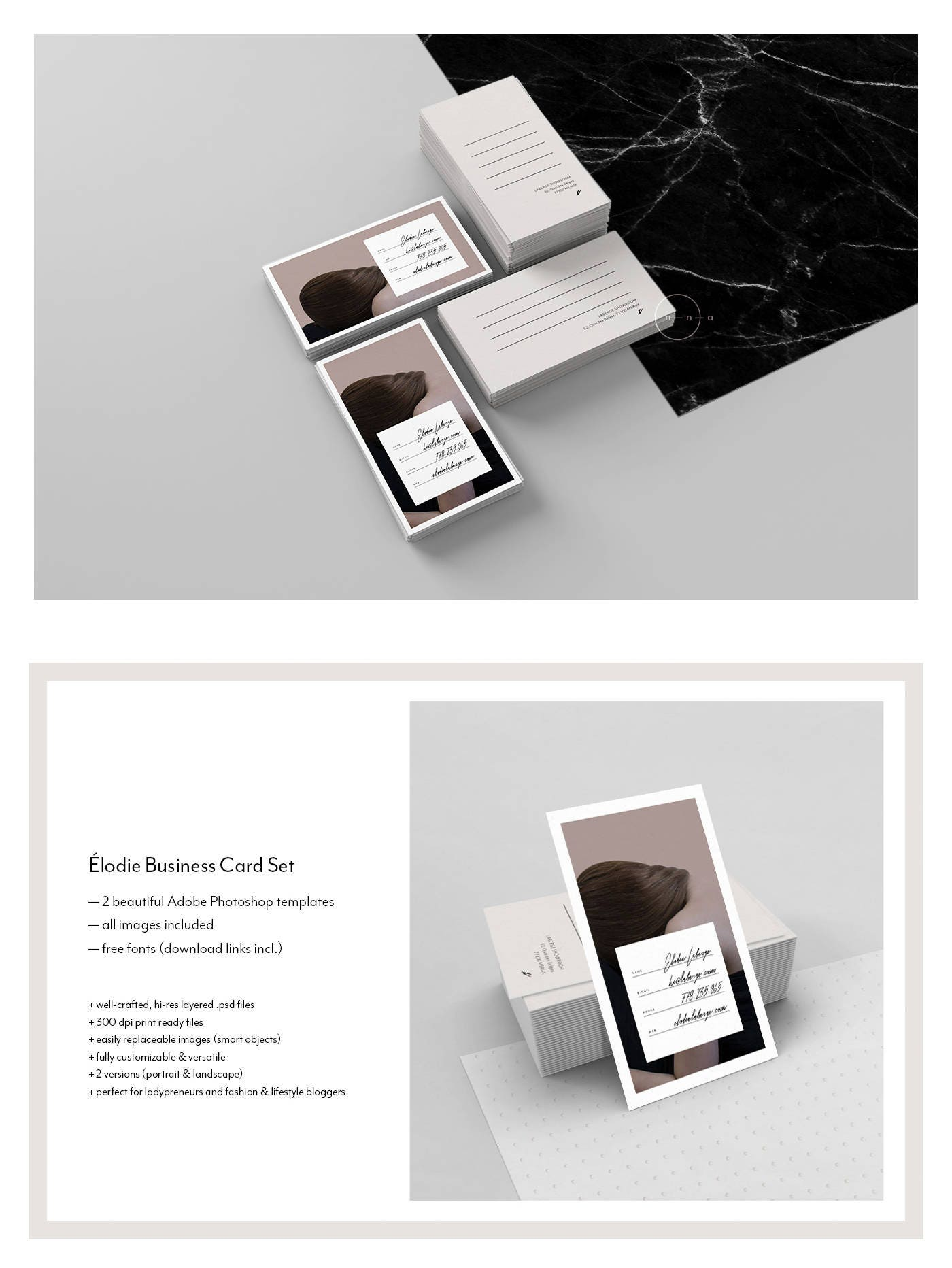 Stylish Business Card Template Fashion Business Card Design