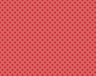 1 Yard Small Dot by Riley Blake Designs -C420- 80 Red