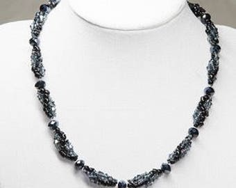 Crystal spriral necklace