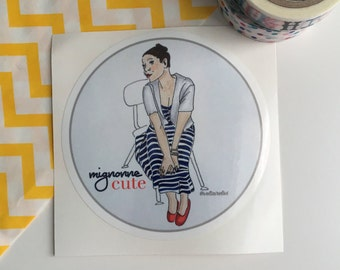 Cute Mignonne French English Sticker Autocollant