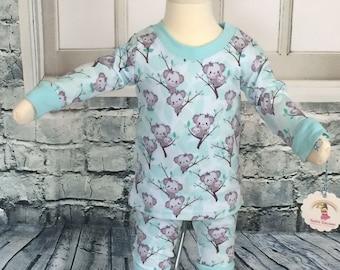koala pajamas - 3/6 month - baby koala pjs - infant sleep set - koala set - custom koala set - baby pajamas - koala baby set -nickisrainbow