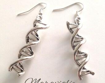 DNA Earrings, Double Helix Earrings, Science Jewelry