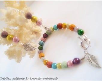 Parure romantique, bohème, bracelet et boucles d'oreilles assorties coloris pastel, cadeau fête des mères & grand-mères, parure bijoux femme