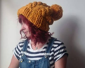 Super chunky cable hat