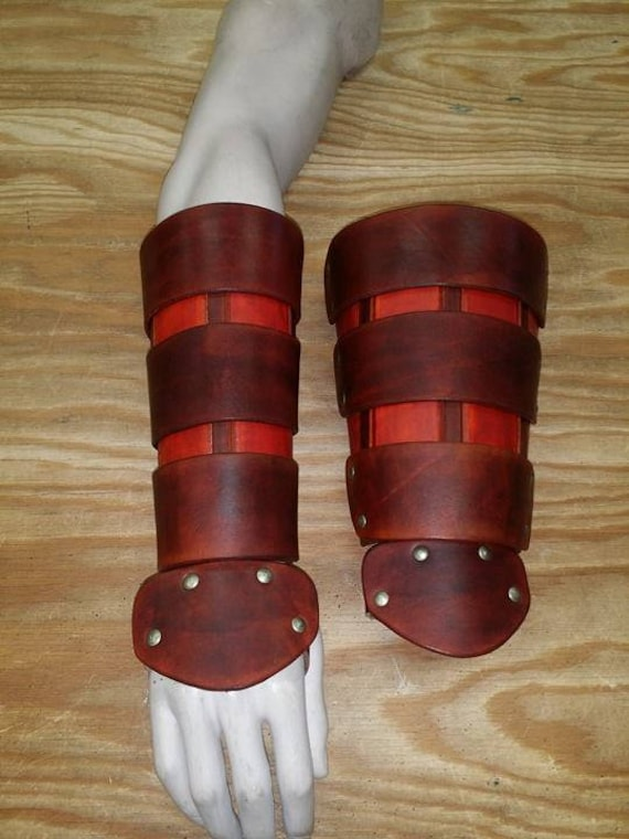 Leather Armor Ocarina of Time Link Gauntlets with Triforce d2qOsvJa2