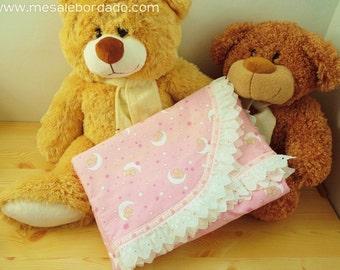 Receiving Blanket, baby blanket, girl blanket, pink blanket, new born blanket, new born warmer, kitty blanket, pink girl blanket,baby shower