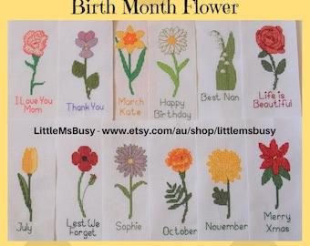 Personalised Bookmark - Birth Month Flower