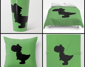 Yoshi Silhouette - mug, pillow, blanket, tapestry, tote Bag, etc available