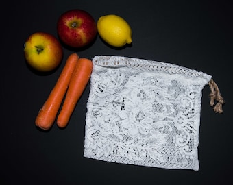 Reusable lace produce bag (M)
