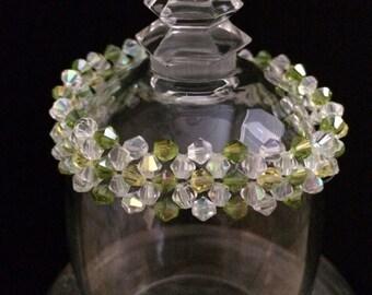 Swarovski crystal daisy flowers bracelet