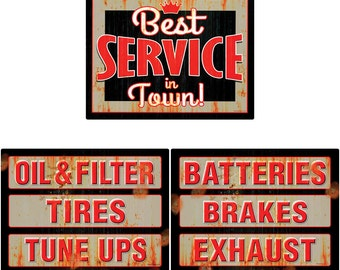 Best Auto Garage Services Rusty Wall Decal Set - #58137
