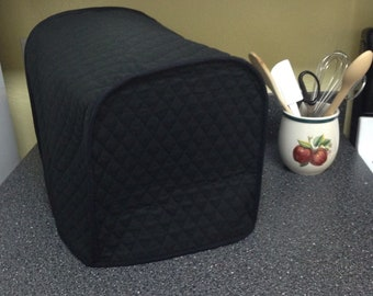 Black Coffee Maker Cover Quilted Fabric Kitchen Small Appliance Covers Made To Order