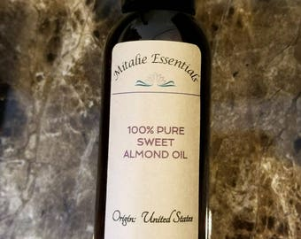 100% Pure Sweet Almond Oil - Vegan, Paraben-Free, Gluten-Free, Phthalate-Free
