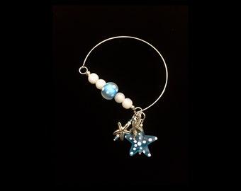 Frosted glass starfish bracelet