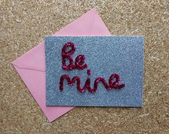 Be mine - handmade valentine's day card