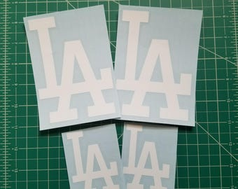 Los Angeles Dodgers Baseball Team LA Logo Vinyl Decals/Stickers