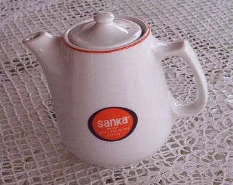 25% off customer app Sanka coffee pot & mug thick restaurant ware advertising