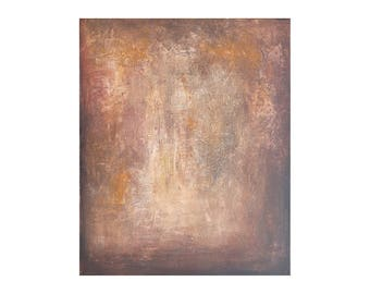 beige brown textured abstract painting Vertical Original palette knife Contemporary modern Artwork canvas decor Wall art Gift for men women