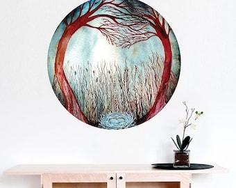 ON SALE Hidden in the Madrone Forest Wall Sticker - Celestial Art by Elise Mahan