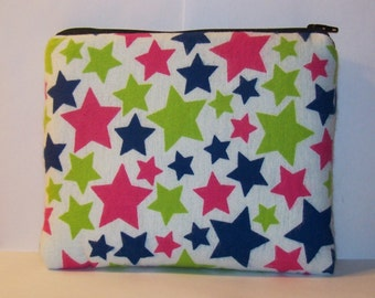 "Pipe Pouch, Padded Pouch, XL Pipe Bag, Zipper Bag, Pipe Cozy, Stars Bag, Starry Pipe Pouch, Gadget Bag, 420, Padded Bag, 7.5"" x 6"" X LARGE"