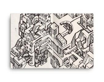 Cyberpunk Metropolis #01 - Canvas Print