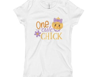 One Cute Chick Easter Spring Girl's T-Shirt