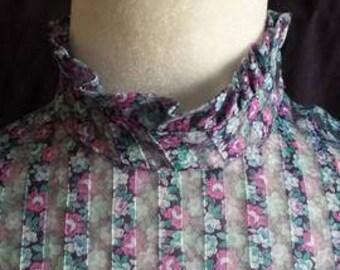 1970s sheer floral dress