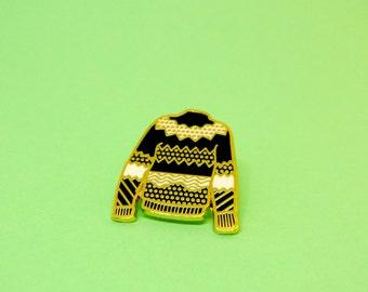 Ugly Sweater Enamel Pin