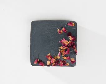 Charcoal Rose Bar Soap / Vegan Soap / Acne Soap / Facial Soap / Detox Soap / Rose Soap / Handmade Soap / Natural Soap /