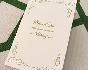 Thank you for being a part of my Wedding Day Letterpress Card