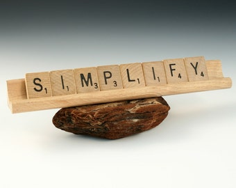 SIMPLIFY Scrabble Letters Sign RECYCLED