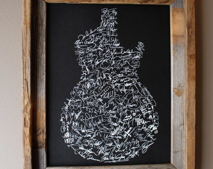 Signatures of Rock and Roll History (Black) - Unframed