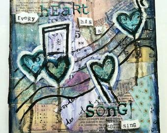 Heart Song, Mixed Media Art Print
