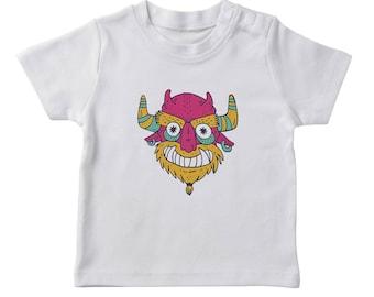 Halloween Devil Monster Boy's White T-shirt