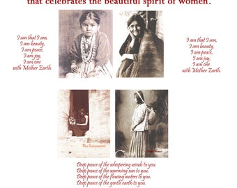 Women's Beauty - set of 4 greeting cards honoring women, friend, sister, sistah, shero, craft, girlfriend, woman, inspiration, strength,
