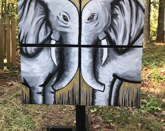 Elephant Canvas Set