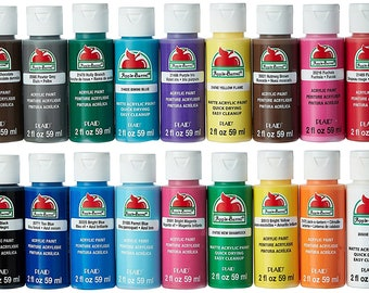 NEW Best Price! Apple Barrel Acrylic Paint Set, 18 Piece (2-Ounce), PROMOABI Best Selling Colors I - FAST Shipping!!!