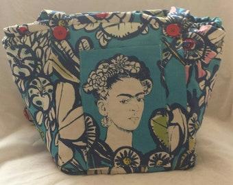 Friday Kahlo Cactus flower Vegan Shoulder Bag.
